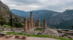 Temple of Apollo at Delphi Stock Footage