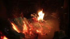 Fire at hearth Stock Footage