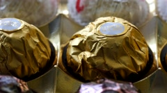 4K Ferrero Rocher Chocolate Package Closeup Stock Footage