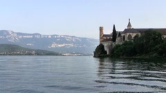 Hautecombe Abbey, Lake Bourget, French Alps Stock Footage