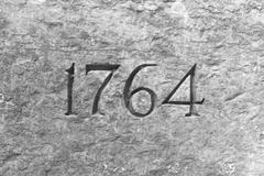 1764 Numbers Granite - stock photo