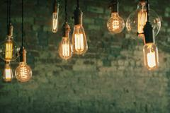 Edison Lightbulbs Stock Photos