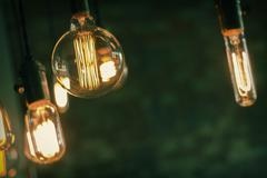 Edison Lightbulbs - stock photo