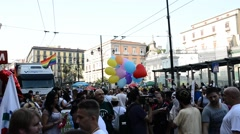 Mediterranean Gay Pride - Naples 2015 Stock Footage