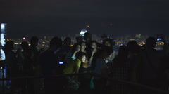 We Love Hong Kong group photo 4K Stock Footage