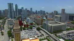 Aerial video Fredom Tower Miami 4k Stock Footage