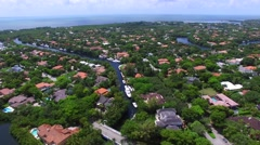 South Miami neighborhood FL 4k aerial video  Stock Footage