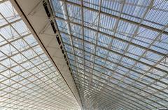 Ceiling of Charles de Gaulle airport in Paris Stock Photos
