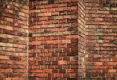 Stock Photo of abstract red brick wall