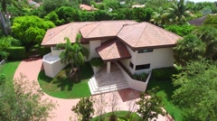 Luxury house aerial video 4k Stock Footage