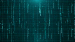 Digital data background 4K (More than 35 ) space green Stock Footage