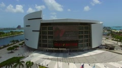 AA Arena Miami aerial video  - stock footage