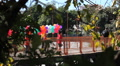 chldren with colorful balloons Footage