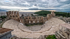 Odeon Of Herodes Atticus - Athens, Greece Stock Footage