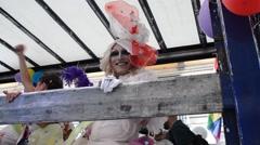 Mediterranean Gay Pride - Naples 2015 - stock footage