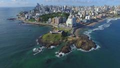 Aerial View of Salvador, Bahia, Brazil - stock footage