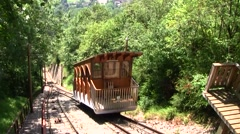 St Hilaire du Touvet funicular, French Alps, France - stock footage
