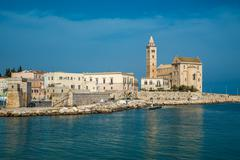 Trani, scenic town at Adriatic sea, Puglia, Italy Stock Photos