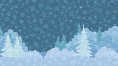 Stock Video Footage of Christmas Landscape, Winter Forest, Seamless Loop