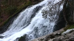 Large Waterfall (with sound) in the French Alps, France Stock Footage