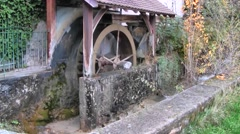 Water Mill in French Alps, France Stock Footage