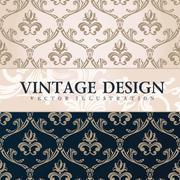 Vector vintage wallpaper. Gift wrap. Floral background Stock Illustration