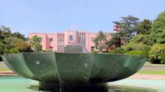 Porto Serraves Museum Park Fountain Stock Footage