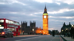 Overview of London with the Elizabeth Tower Stock Footage