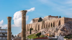 Stock Video Footage of Acropolis / Temple of Olympian Zeus - Athens, Greece