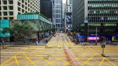 Traffic jam in timelapse. Hong Kong - stock footage