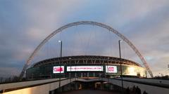 Wembley stadium in London, UK - stock footage