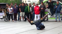 Street Performers, Place Beaubourg, Paris, France Stock Footage