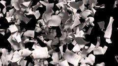 Pages falling white paper book literature business school 4k - stock footage