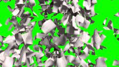 Pages falling white paper book literature business school green screen 4k Stock Footage
