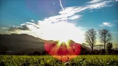 Timelaps Berg Sonnenuntergang Stock Footage