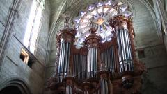 Beziers, France Church organ Stock Footage