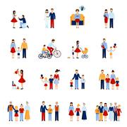 Family Icons Set - stock illustration