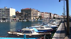 Sete, port city in Languedoc Roussillon, France Stock Footage