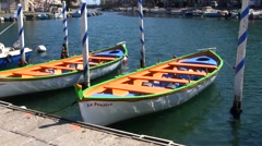 Sete port city with colorful boats, Languedoc Roussillon, France Stock Footage