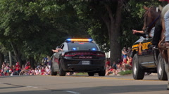 Parade in Fairborn Ohio on 4th of July 4k - stock footage