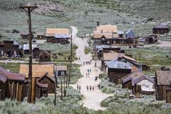 Bodie Ghost Town Tourists Kuvituskuvat