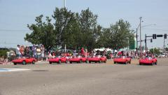 Go-Carts in 4th of July parade in Fairborn Ohio Stock Footage