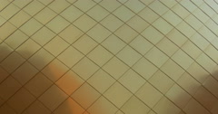Architectural metal gold pattern Stock Footage