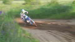 mx pro jumping past camera - stock footage