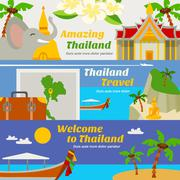 Stock Illustration of Thailand Travel Banners Set