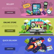 Online Banner Horizontal Stock Illustration