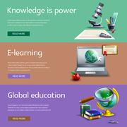 Education and study banners set Stock Illustration