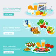 Healthy Food Banner Piirros