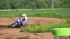 mx racer riding hard 60fps - stock footage