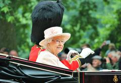 Stock Photo of London, UK - June 13 2015: The Queen Elizabeth and Prince Phillip appear duri